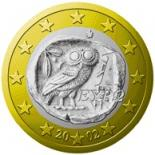 1 euro (other side, country Greece) 1